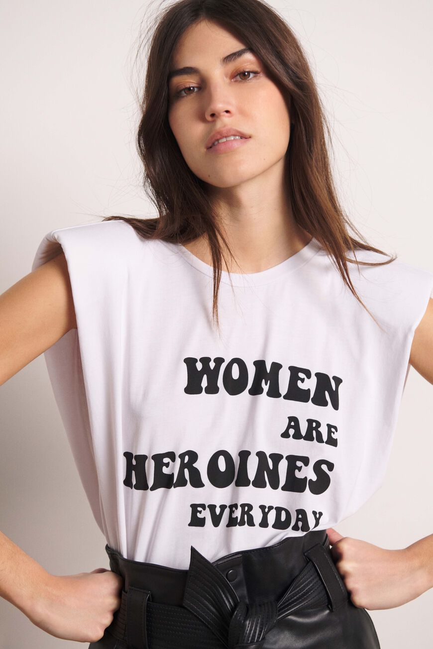 TSHIRT WOMAN T-SHIRTS BLANC