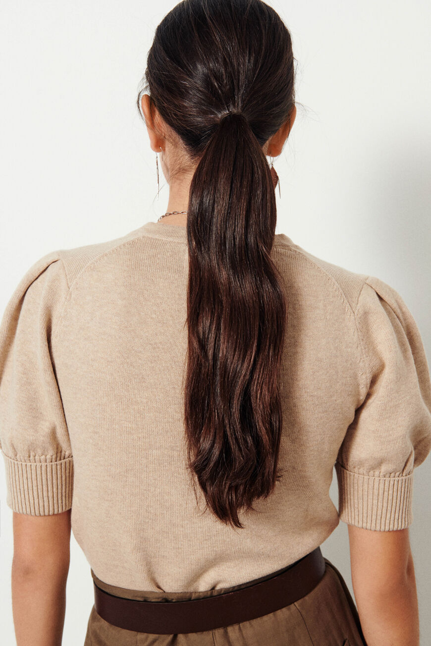 PULL MATHIS MAILLES BEIGE BA&SH