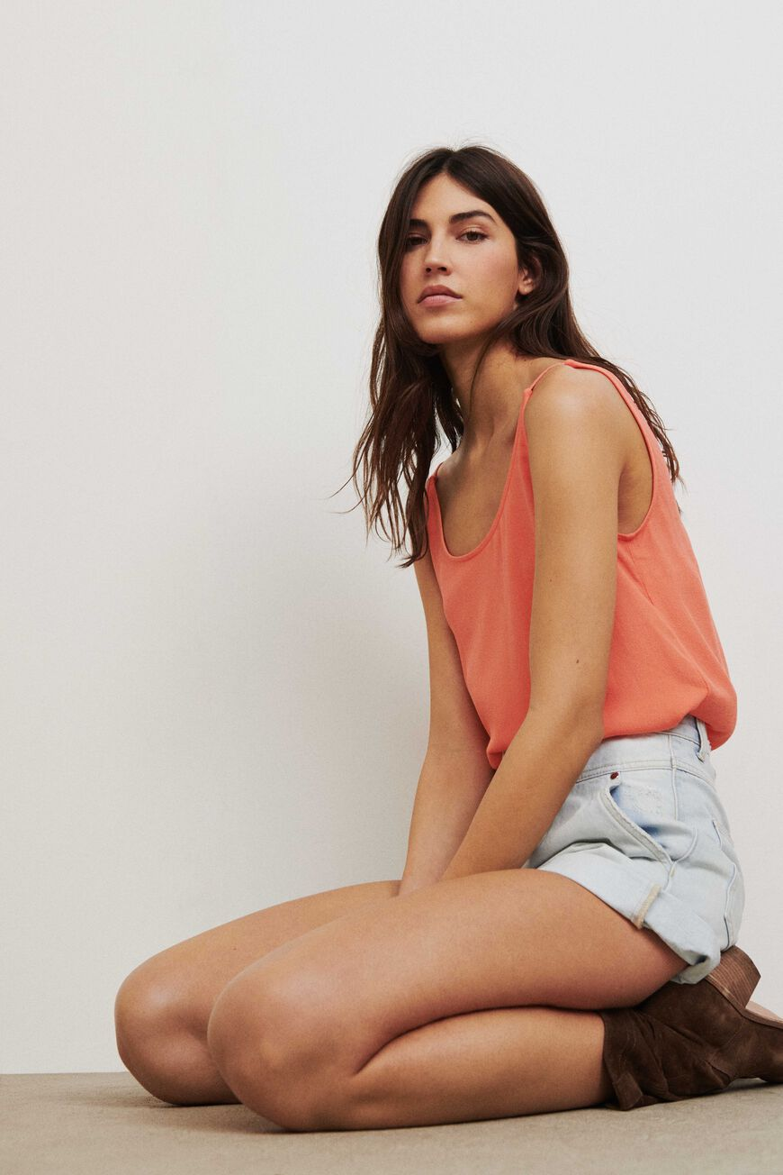 DEBARDEUR FIGUE TOPS CORAIL