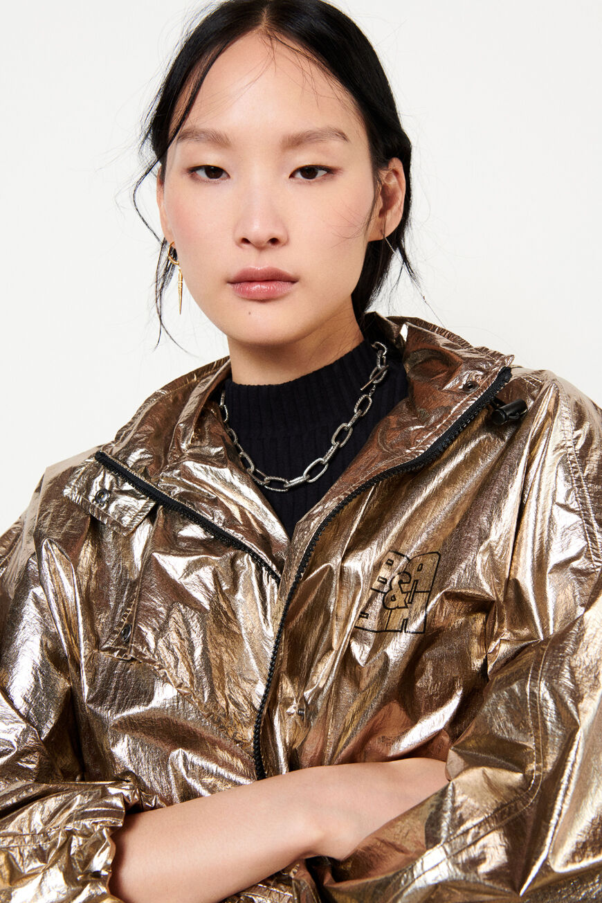 IMPERMEABLE ROSIE BACK IN TOWN GOLD BA&SH