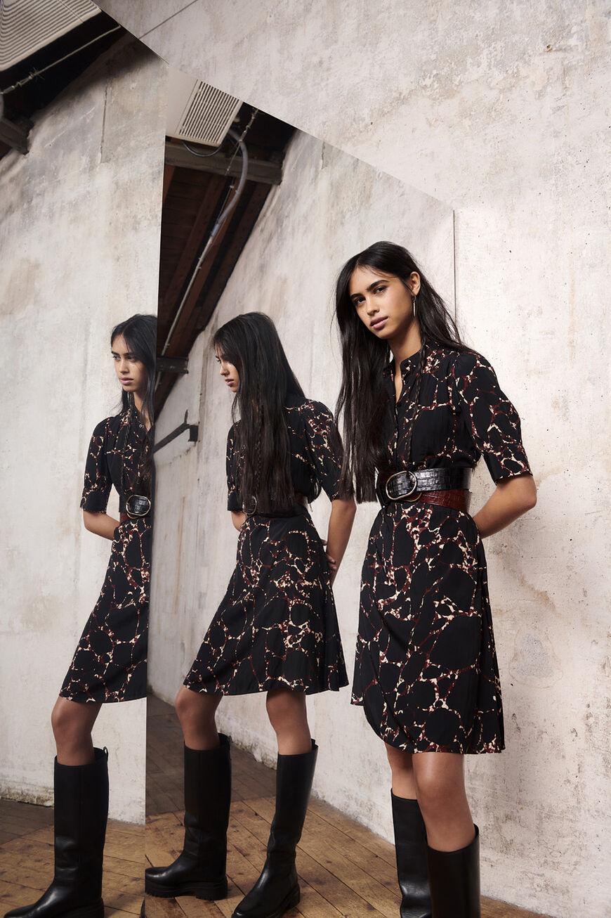 DRESS MEGAN MINI DRESSES NOIR BA&SH