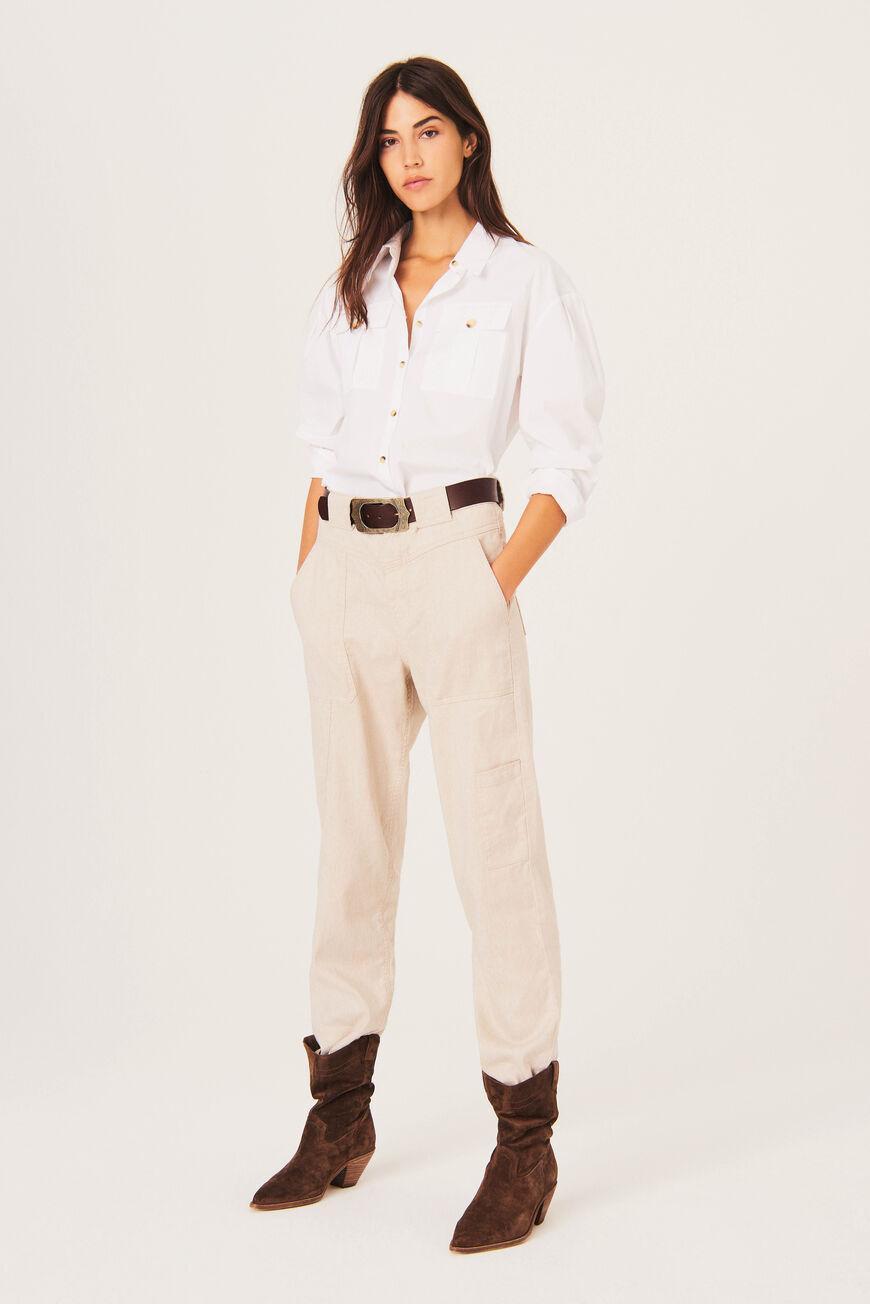 SHIRT PEPA Tops & Shirts BLANC BA&SH