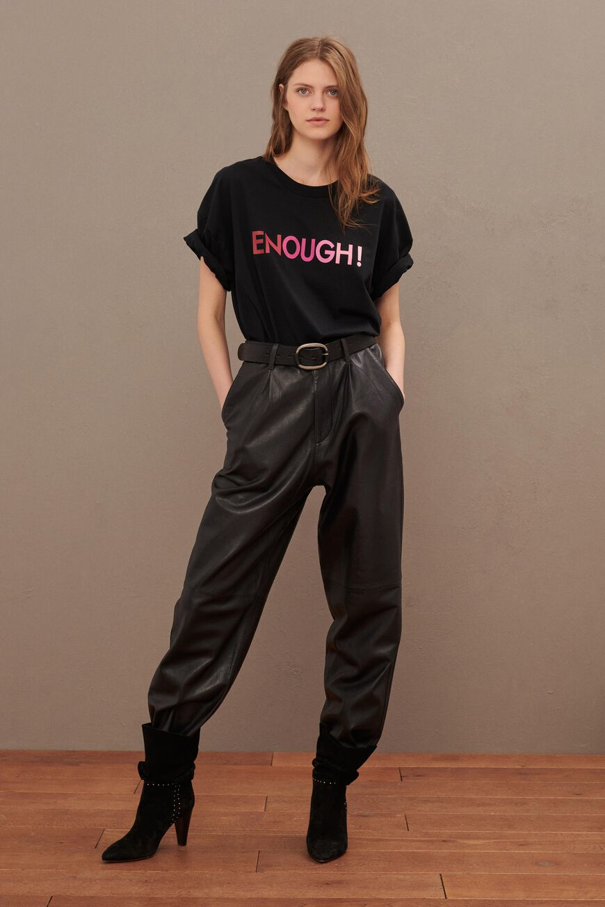 T-SHIRT ENOUGH T-SHIRTS NOIR