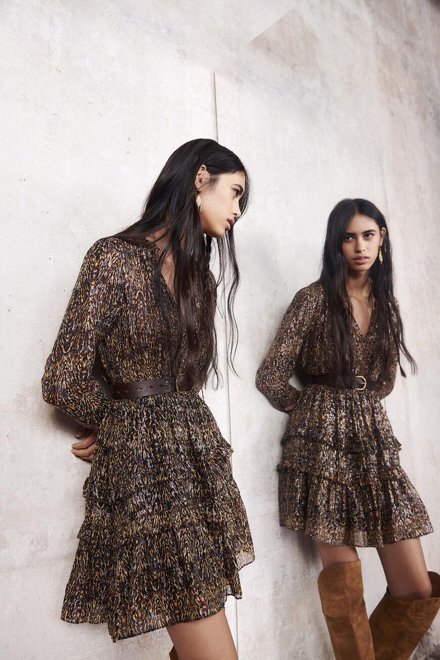 DRESS GLEN MINI DRESSES KAKI BA&SH