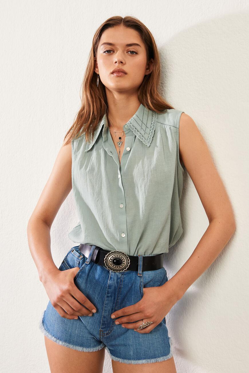 SHIRT BOSSA Tops & Shirts VERTPASTEL BA&SH