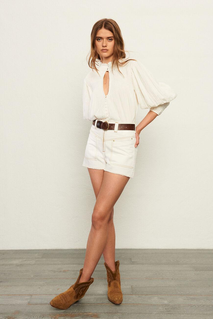 BLOUSE KAWAI Tops & Shirts ECRU BA&SH