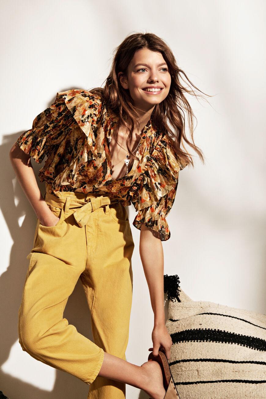 BLOUSE GILDA Tops & Shirts OCRE BA&SH