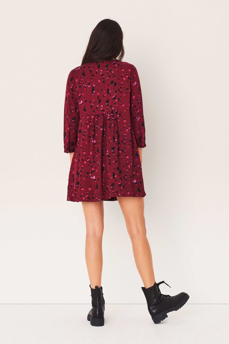 ROBE TELMA ROBES COURTES BORDEAUX