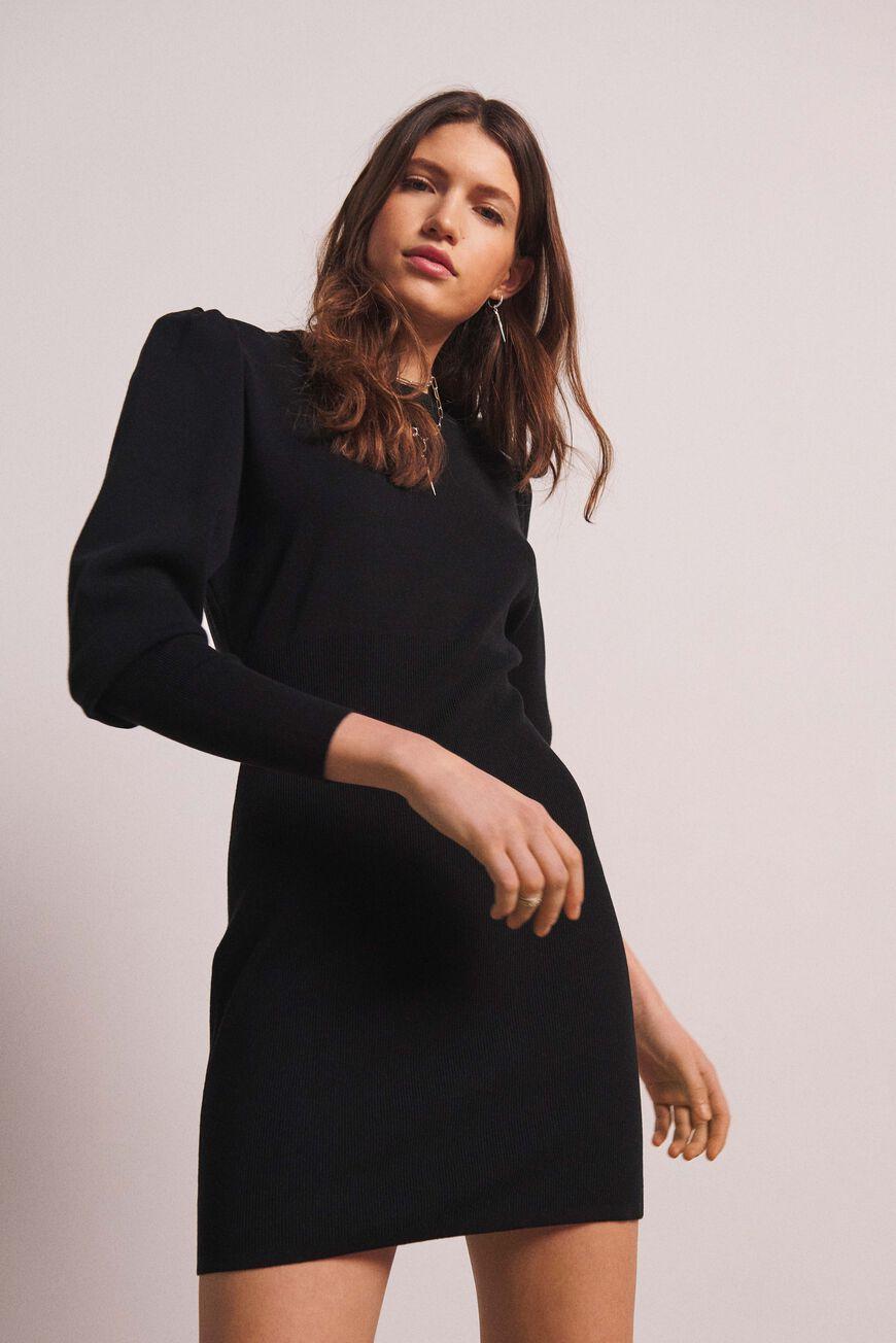 DRESS SALOME MINI DRESSES NOIR BA&SH