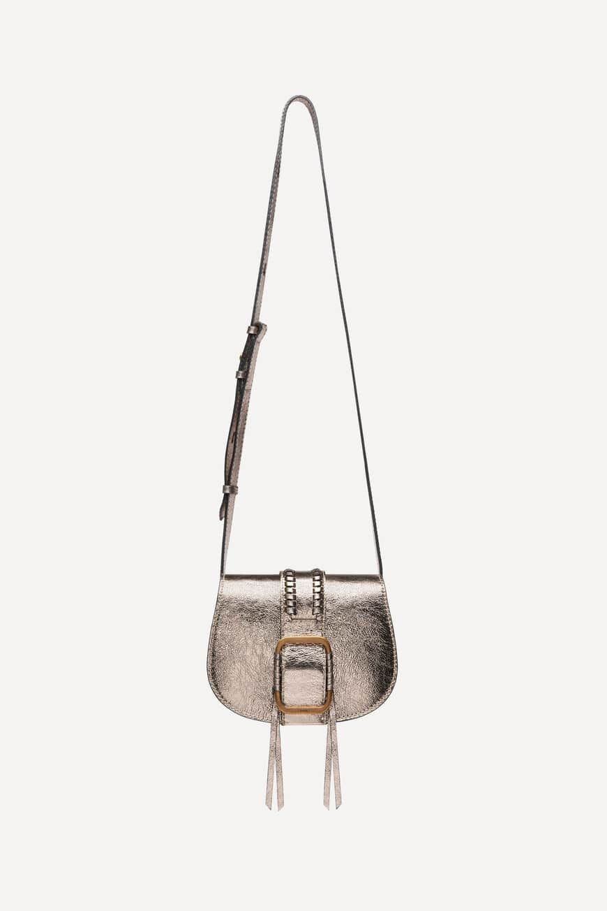 MINI-SAC TEDDY CROSSBODY BAGS METALIC