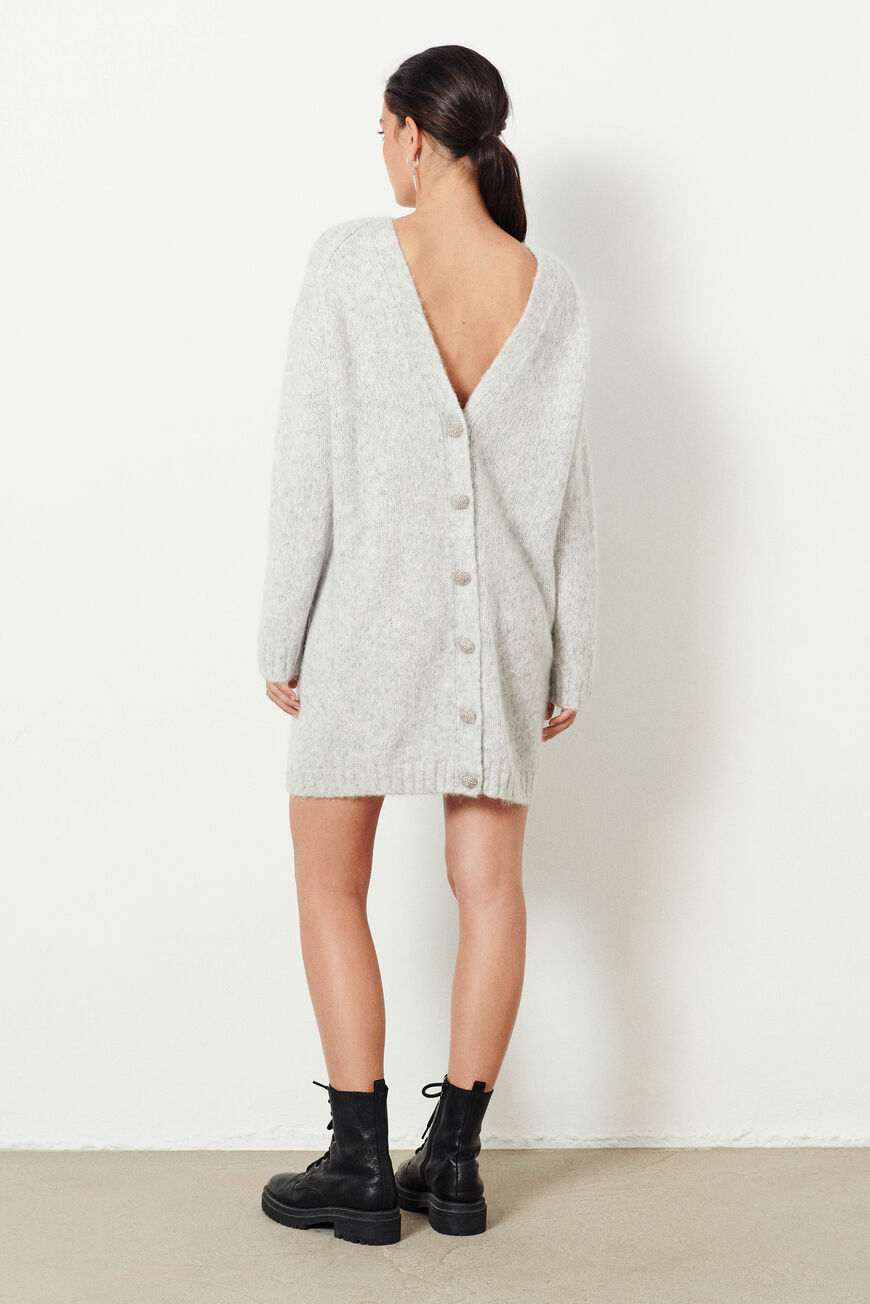 ROBE BEYLA ROBES COURTES GRISCLAIRCHINE BA&SH